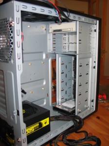 PSU installed in case