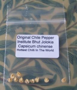 Small bag of Naga Bih Jolokia Seeds