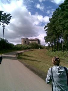 """Walking toward the """"Castle"""""""
