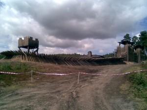 Heavily fortified Village